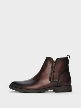 DKNY Men's Tory Zip Up Boot - Dark Brown - Size 7