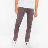 Paul Smith Men's Slim-Fit Grey Cotton-Twill Stretch Chinos