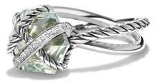 David Yurman Petite Cable Wrap Ring with Prasiolite and Diamonds