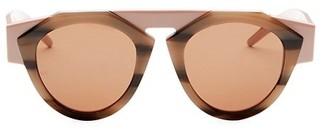 Smoke X Mirrors x FIORUCCI Atomic3 Tortoise & Pink Round Sunglasses