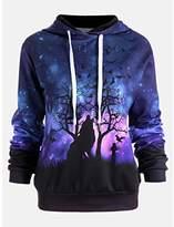 Lowprofile Long Sleeve Pullover Women Teen Girls 2018 Wolf 3D Digital Print Sweatshirts Hooded Sweater Baseball Sport Coats