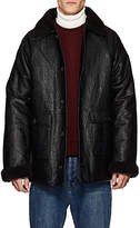 Gosha Rubchinskiy MEN'S FAUX-LEATHER & FAUX-SHEARLING COAT