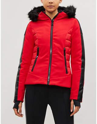 GOLDBERGH Kaja faux-fur-trimmed shell-down ski jacket