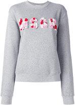 MSGM sequins logo sweatshirt - women - Cotton/Viscose/plastic/Sequin - S