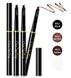 Bodermincer 3 Colors Automatic Waterproof Eyebrow Pencil (B013-Dark Brown)