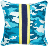 Jonathan Adler Handmade Camo Needlepoint Pillow