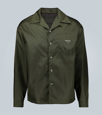 Prada Technical fabric long-sleeved shirt