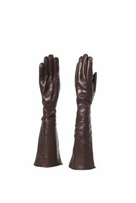 Parisi Gloves Gloves Parisi - Genuine Long Andclassic Leather Gloves For Women Without Lining - High Quality - 8psf (7