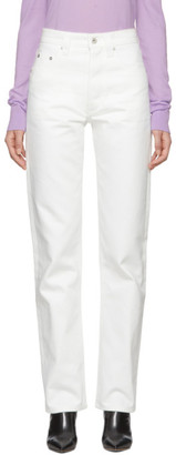 Kwaidan Editions White Selvedge Biker Jeans