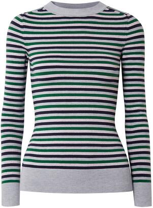 JoosTricot Metallic Striped Stretch-knit Sweater