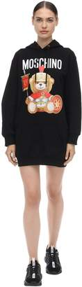 Moschino HOODED COTTON JERSEY MINI DRESS