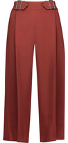 A.L.C. Beals Buckle-Detailed Pleated Crepe Culottes