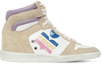 Isabel Marant 45mm Bayten Leather & Suede Sneakers