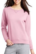 Hanes Women's Fleece V-Notch Sweatshirt (Large (12-14), )