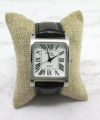 Ever So Clutch Women's Watches - Black Roman Numeral Watch