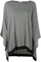 Brunello Cucinelli striped poncho sweater - women - Cashmere/Wool - L