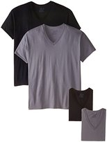 Fruit of the Loom Men's Extended Sizes V-Neck T-Shirt(Pack of 4)