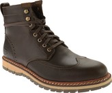 Timberland Men's Earthkeepers Britton Hill Wing Tip Boot WP Dark Brown Smooth Size 9.5 M