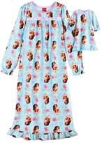 Disney Disney's Elena Avalor Girls 4-8 Pattern Nightgown & Doll Gown