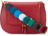 Anya Hindmarch Burgundy 'Vere' link strap satchel - women - Leather/Cotton - One Size