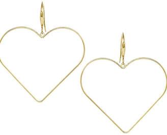 Us Jewelry House Heart Shape Hoop Drop Earrings