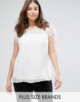 Junarose Plus T-Shirt With Lace Sleeves