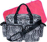 Trend Lab TREND LAB, LLC Deluxe Duffle Diaper Bag-Midnight Fleur Damask