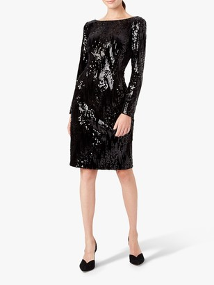 Hobbs Sawyer Sequin Dress, Black