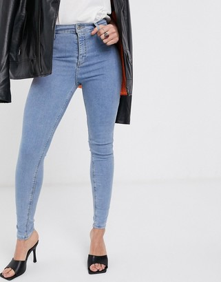 Topshop Tosphop Joni jeans in bleach wash