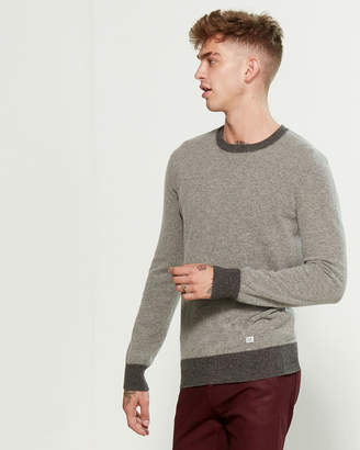 C.P. Company Cloud Melange Wool-Blend Tipped Sweater