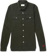 MAISON KITSUNÉ Stretch Cotton and Wool-Blend Shirt