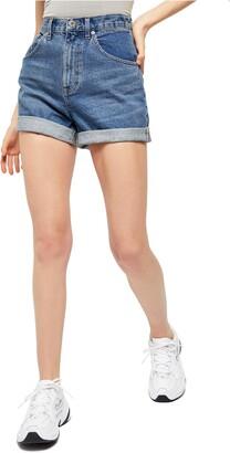 BDG High Waist Cuffed Denim Mom Shorts