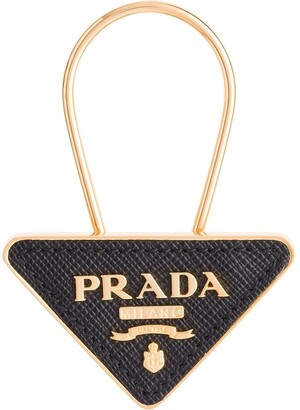 Prada logo pendant keyring