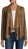 Bagatelle Faux-Suede Open-Front Jacket, Tobacco Brown