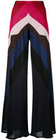 Circus Hotel metallic detail wide-legged trousers - women - Viscose/Polyester - 40