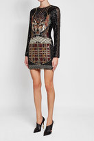 Balmain Mini Dress with Bead and Sequin Embellishment