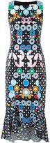 Peter Pilotto geometric printed midi dress - women - Polyester/Spandex/Elastane/Acetate/Viscose - 8