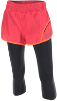 2XU Pink Embossed Flex Layered Capri Leggings