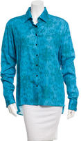Baja East Printed Button-Up Top w/ Tags
