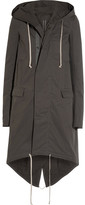 Rick Owens Cotton-twill Hooded Parka - Dark gray