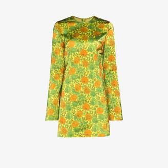 Marques Almeida Floral satin mini dress