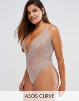 Asos Billie Lace High Leg Bodysuit
