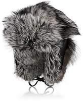 Crown Cap Men's Fur & Leather Trapper Hat