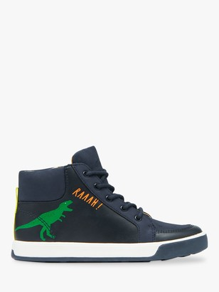 Joules Little Joule Children's Runaround High Top Trainers, French Navy