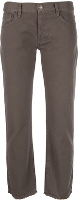 Nili Lotan Cropped Denim Jeans