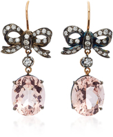 Montse Esteve 18K Gold Morganite and Diamond Earrings