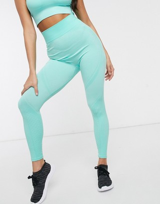 South Beach seamless leggings with detail in mint green