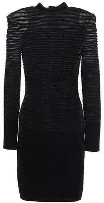 Balmain Jacquard-knit Turtleneck Mini Dress