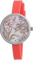 Pilgrim Charming Pink Silver And Flower Watch
