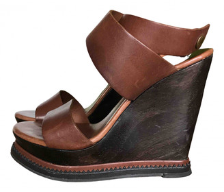 Diane von Furstenberg Brown Leather Sandals